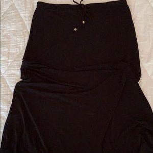 MICHAEL KORS black maxi skirt